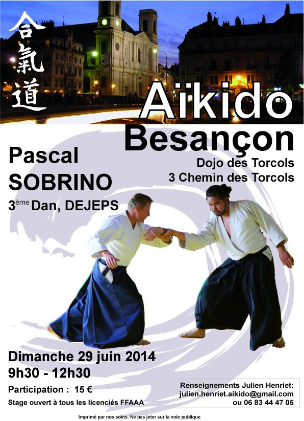 Stage à Besançon le 29 juin