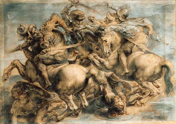 Leonard De Vinci : la Bataille d'Anghiari 1503/1506.
