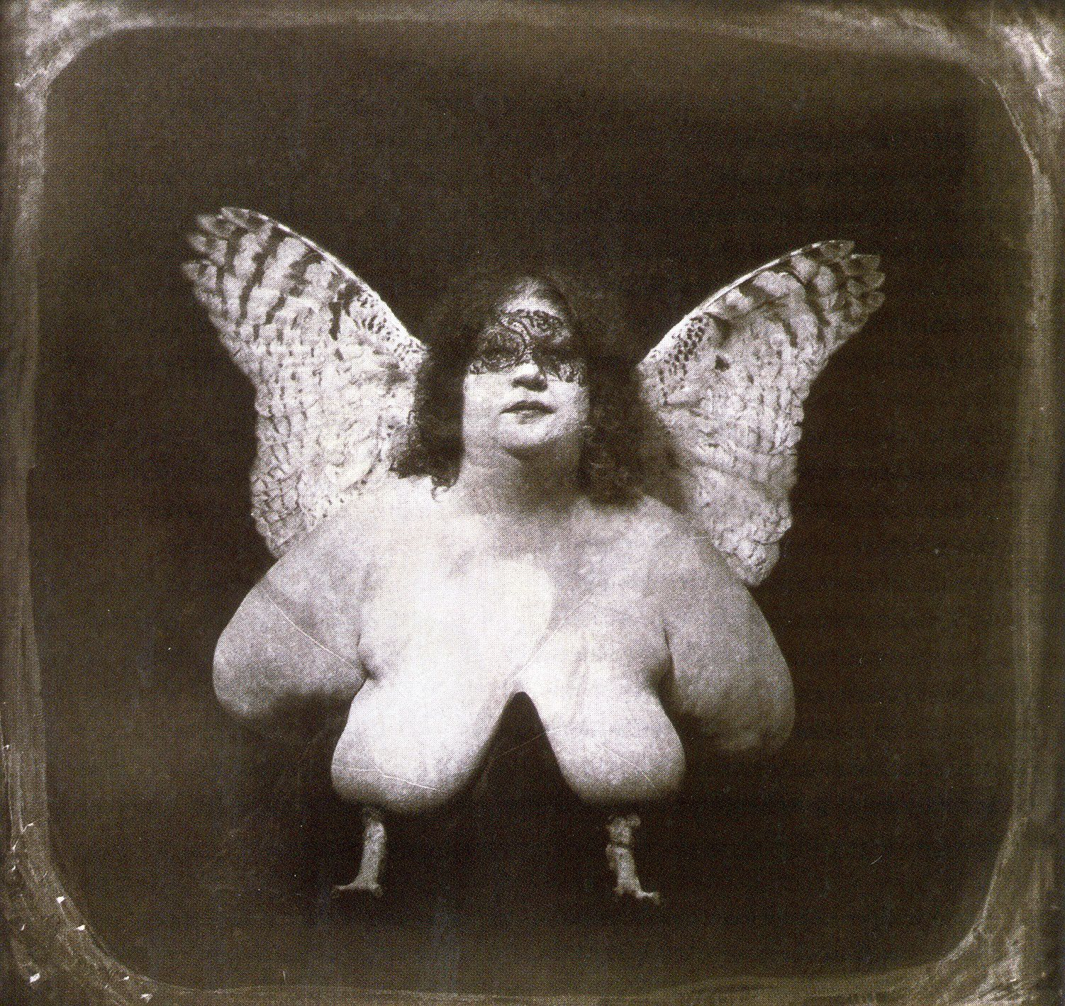 Joël Peter Witkin.The bird of Quevada,Chimère.1982,tirage argentique,71x71cm.