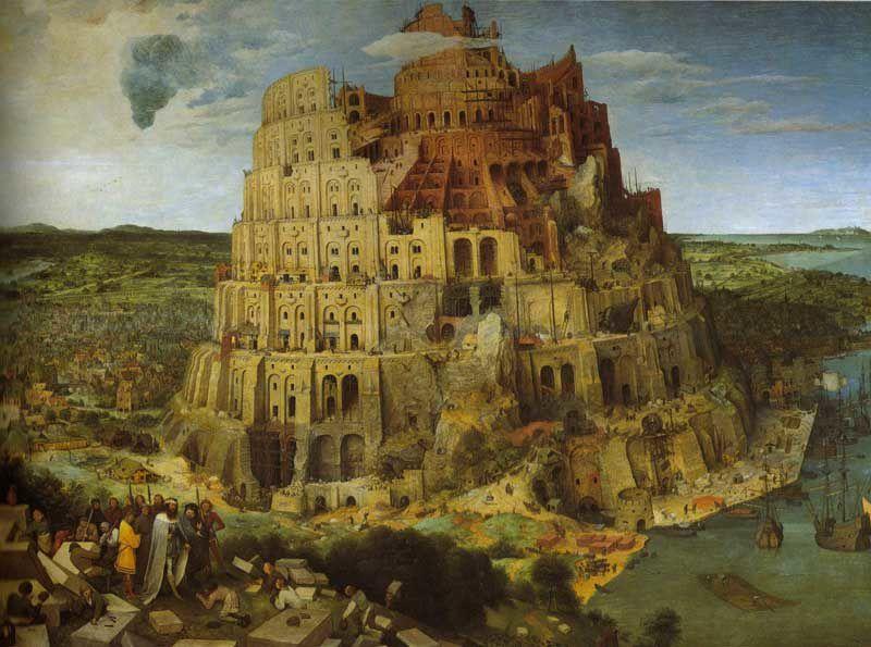 Pieter Bruegel l'Ancien  : La Tour de Babel 155 x 114 cm 1563
