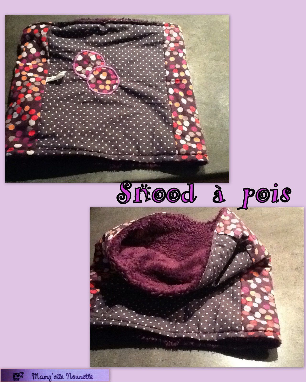 Snood à pois