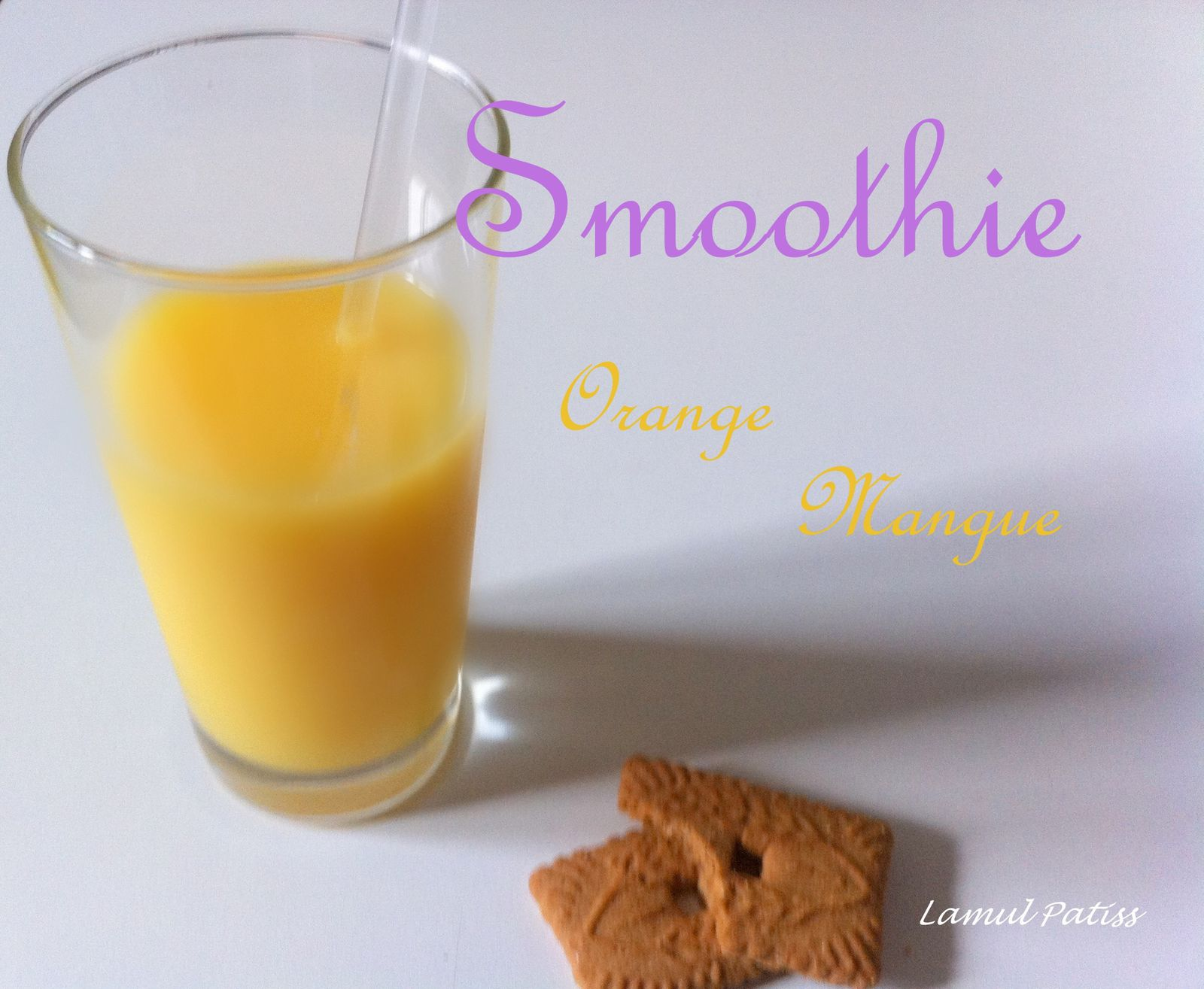 Smoothie orange mangue