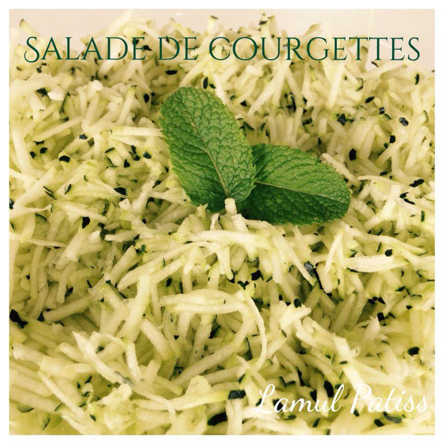 salade de courgettes crues à la menthe