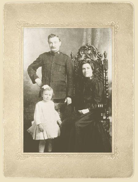 Grace Hanagan (7 ans) et son père Edward James Hanagan | passagers à bord de l'Empress of Ireland