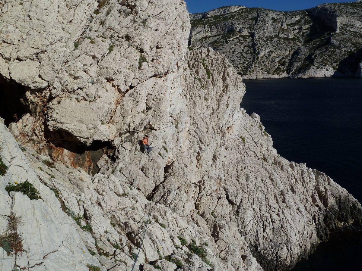 """Sortie """"pleine mer"""" de la grotte du capélan"""