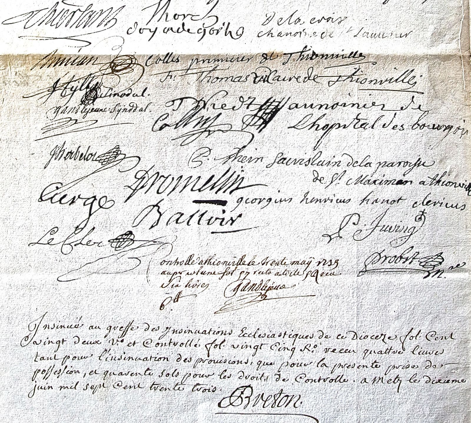 Signatures au bas de l'acte de nomination (Notaire Helminger: ADM 3E7530)