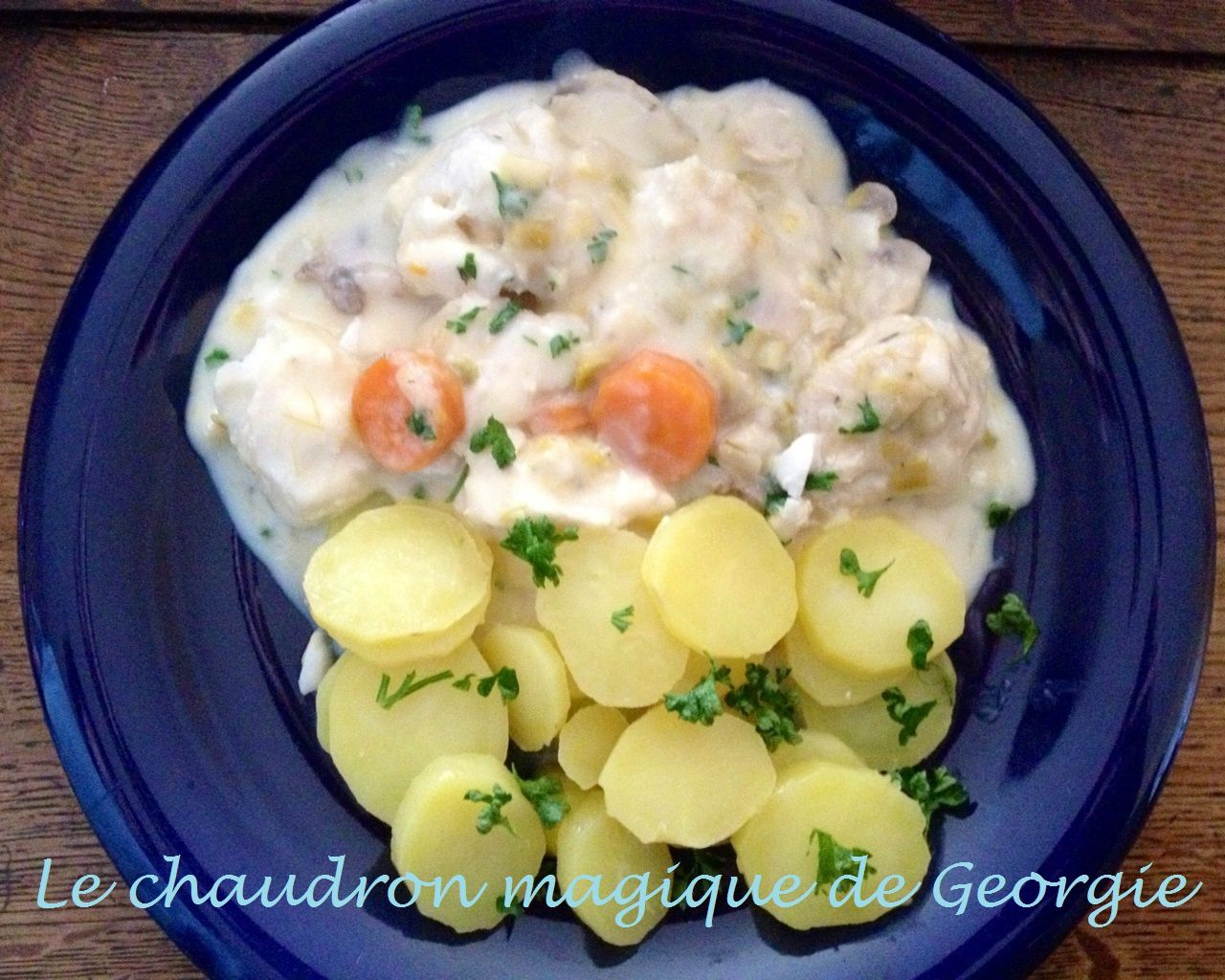 Blanquette de poisson blanc WW au Thermomix