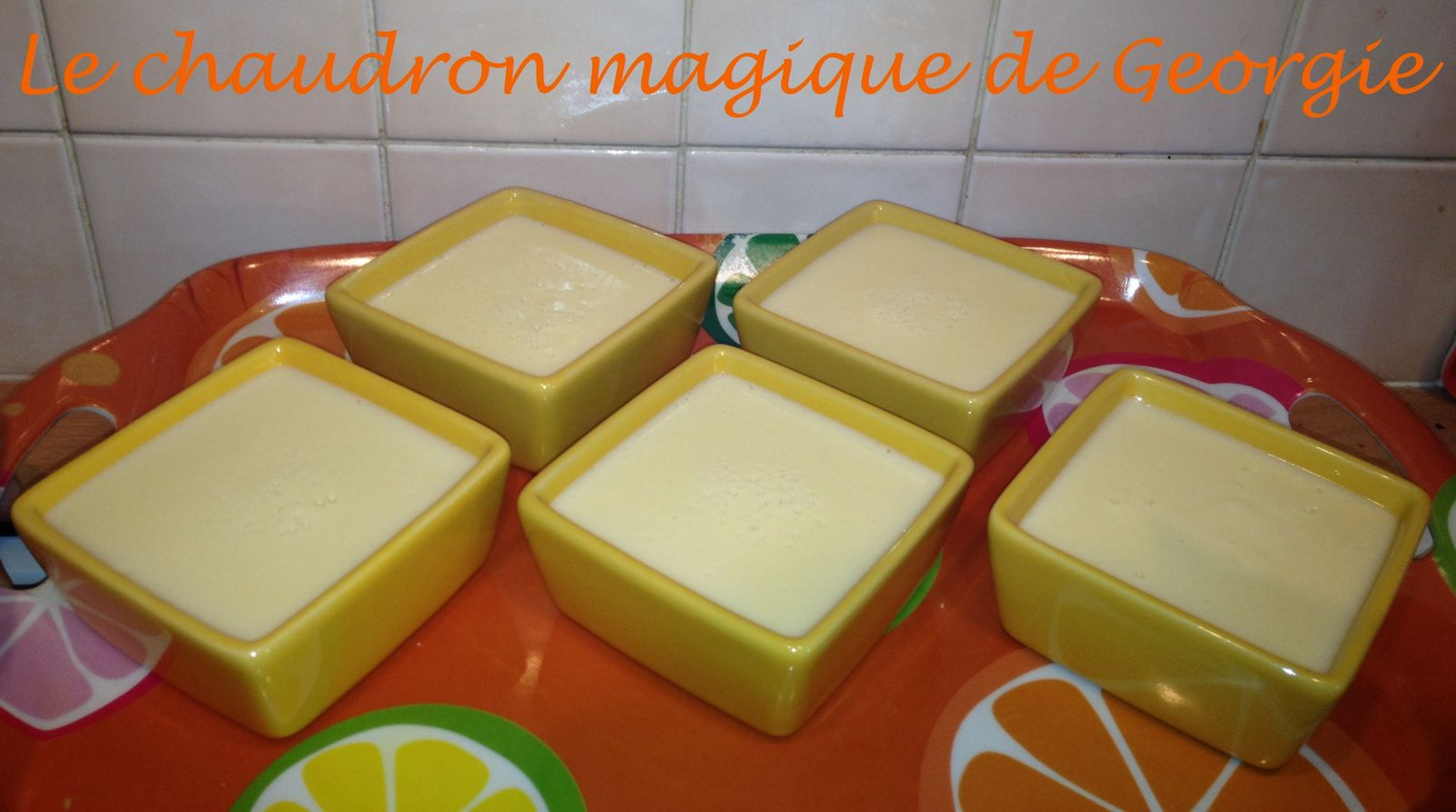 Crème dessert à l'orange WW au Thermomix