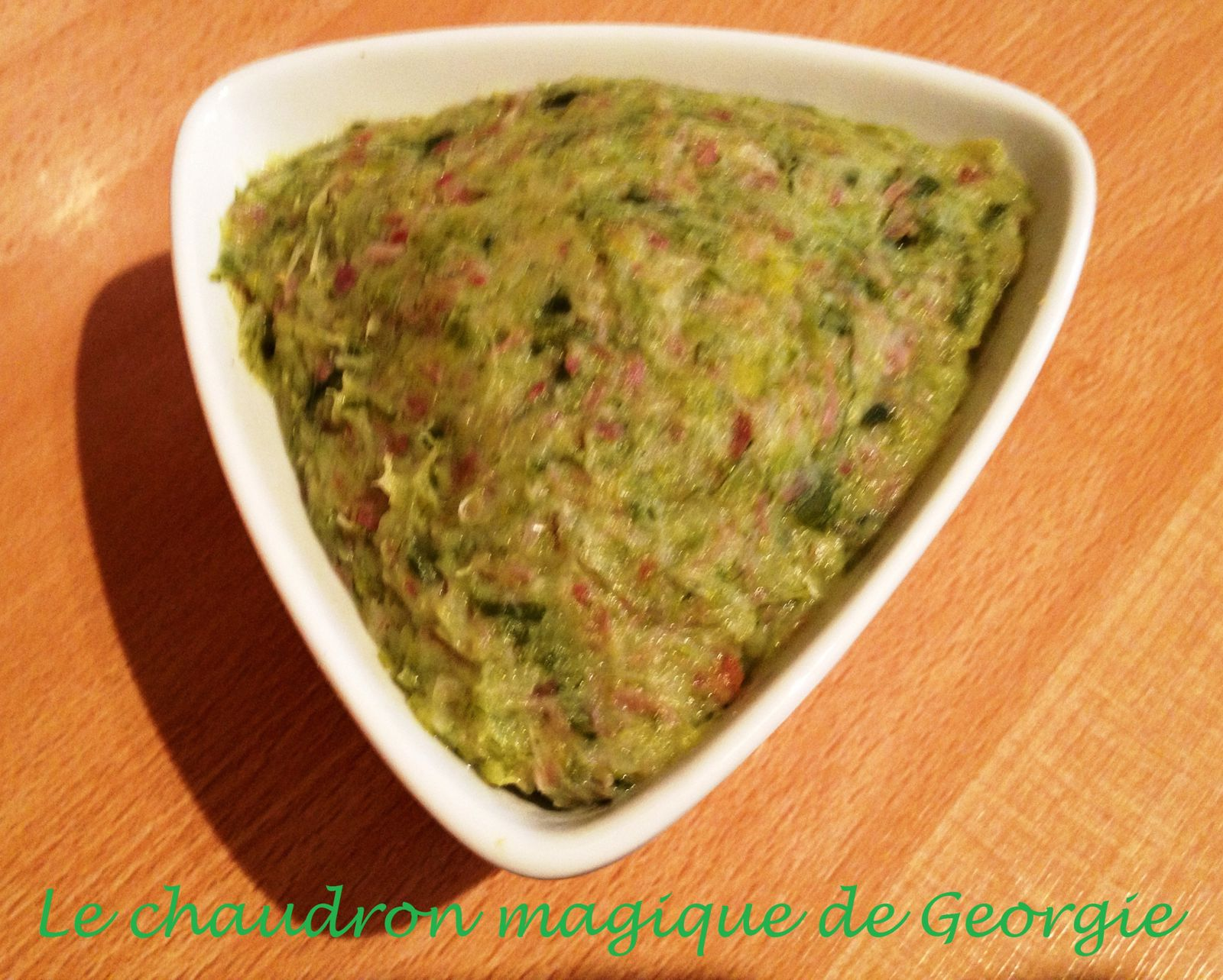 Tartinade poireaux bacon WW au Thermomix