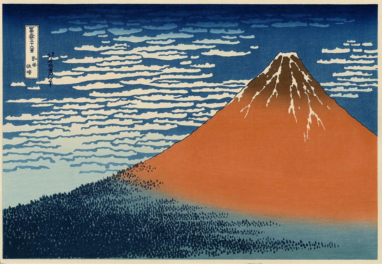 vends véritables estampes japonaises de HOKUSAI séries 36 vue du Mont Fuji