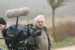 Marcel Trillat en tournage.