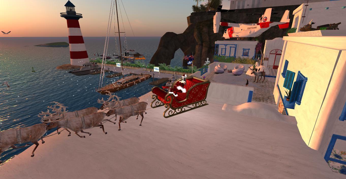 Mykonos Marina, dans l'ambiance de Noël