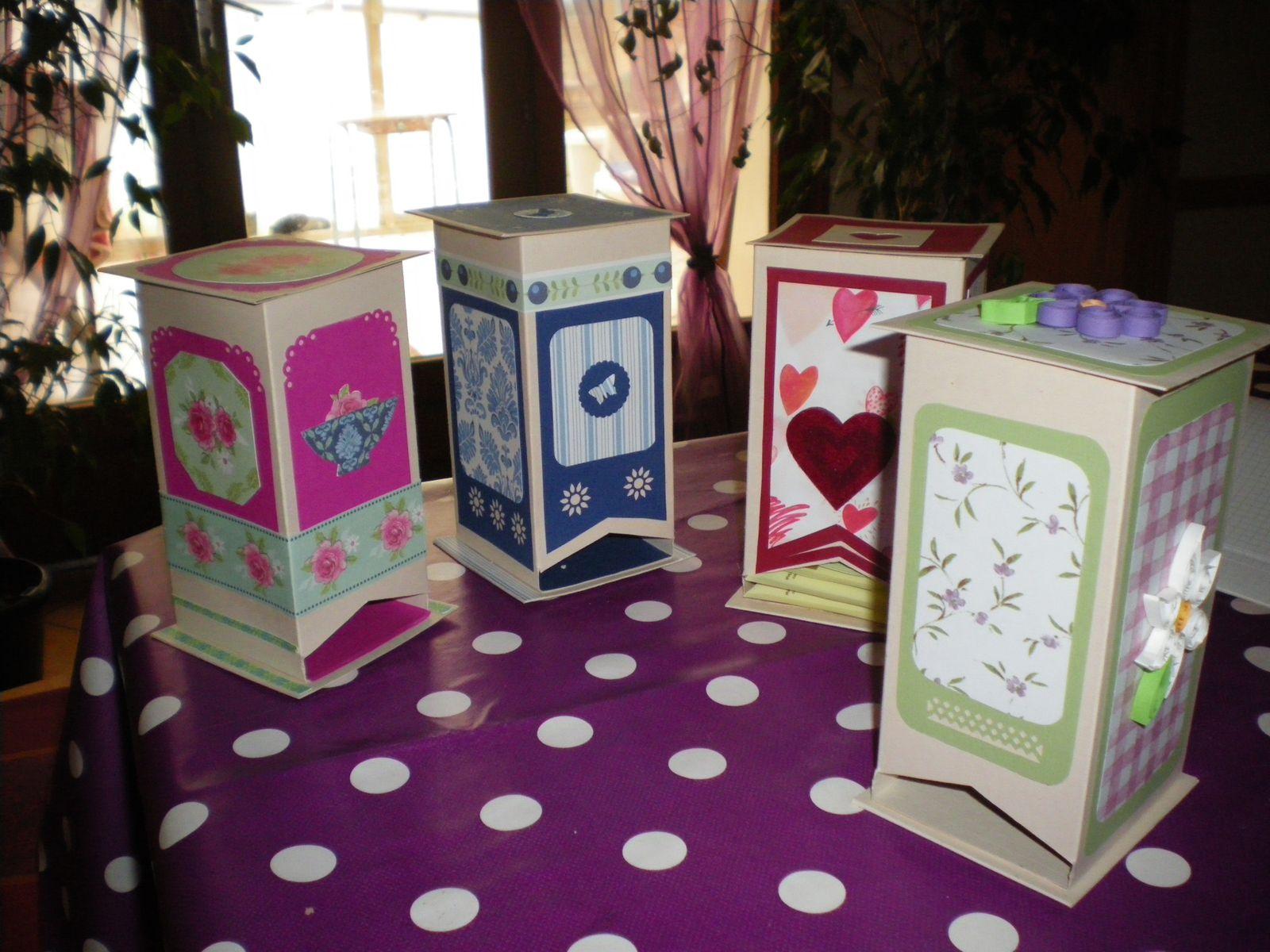 cartonnage scrap  boites distributrices de thé