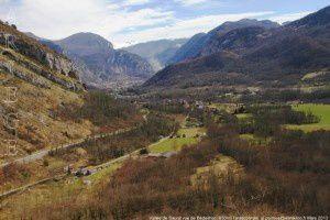 Vallée de Saurat vue de Bédeilhac (650m)