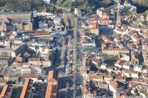 Foix - Allée de Villote vue du Pech
