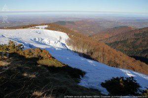 La Pelade vue du pic de Razels (1600m)