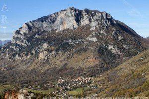 Quié de Sinsat - Verdun vus de l'ermitage Saint-Pierre (842m)