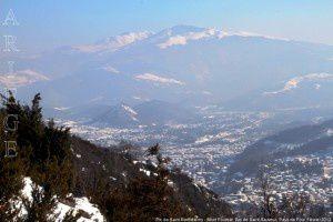Mont Fourcat - Pic de Saint-Barthélemy vus de Saint-Sauveur