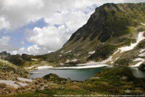 Second étang de l'Albe (2355m) - Pic de l'Albe (2764m)