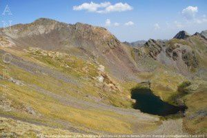 Pic de la Coume de Seignac - Estany dels Meners de la Coma vus du pic de Serrère (2912m)