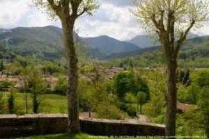 Vue sur Bélesta - Notre-Dame du Val d'Amour