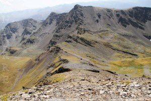 Pic de la Cabaneta - Collet dels Meners vus du pic de Serrère (2912m)