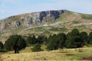 Rocher de Scaramus vu du col de la Gardie (1635m)