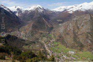 Vallée de Vicdessos vue du pic de Risoul (1373m)