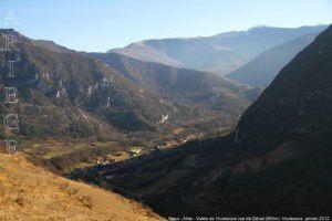 Niaux - Alliat - Vallée de Vicdessos vus de Génat (960m)