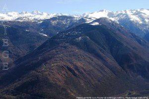Plateau de Beille vu du Rocher de la Mirouge (1451m)