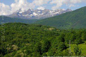 Massif du mont Valier vu de Ségouge