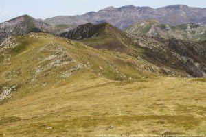 Col du Morech vu du pic des Fouziès (2280m)