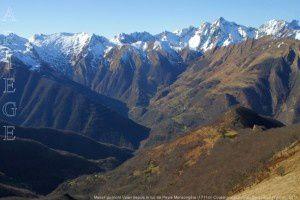 Massif du mont Valier depuis le Tuc de Peyre Mensongère (1711m)