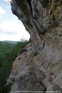 Falaise de la grotte du Mas d'Azil