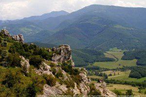 Pic de Saint-Barthélemy - Mont Fourcat vus du Pech (750m)