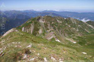 Col de la Crouzette vu du Tuc de la Messe (2446m)