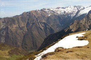 Vallée du Ribérot vue du col de Part (1856m)