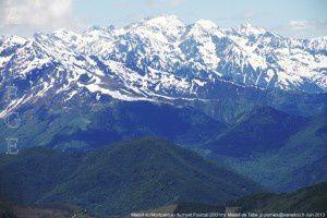 Massif du Montcalm vu du mont Fourcat (2001m)