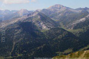 Pic de Moredo (Espagne) vu du tuc de Bignau (2395m)