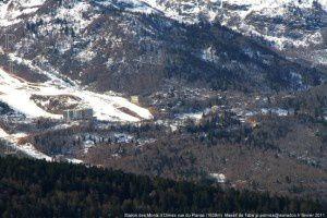 Station des Monts d'Olmes vue du Planas (1638m)