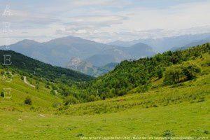 Vallée de Saurat vue du col de Port (1249m)