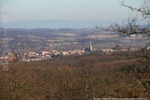 Mirepoix vue du pic d'Estelle (510m)