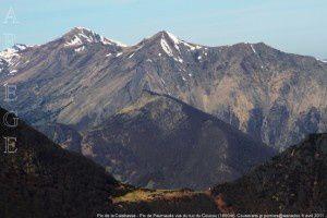 Pic de la Calabasse - Pic de Paumaude vus du tuc du Coucou (1890m)
