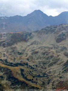 Puig Carlit (2921m) du sommet du pic d'Auriol (2695m)