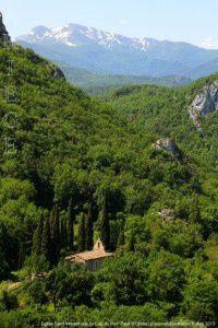 Eglise Saint-Vincent vue du Cap du Roc