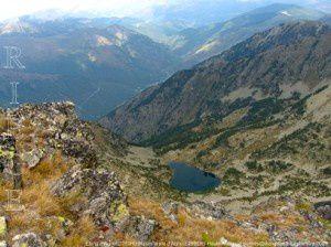 Etang d'Auriol (2250m) du sommet du pic d'Auriol (2695m)