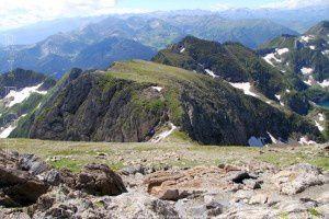 Col du Faustin - Petit Valier vus du Mont Valier (2838m)