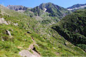 Massif du Valier vu de la cabane des Caussis (1859m)