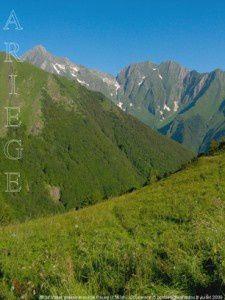 Mont Valier depuis le col de Pause (1563m)