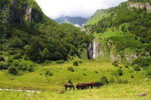 Cascade d'Arcouzan (1100m)